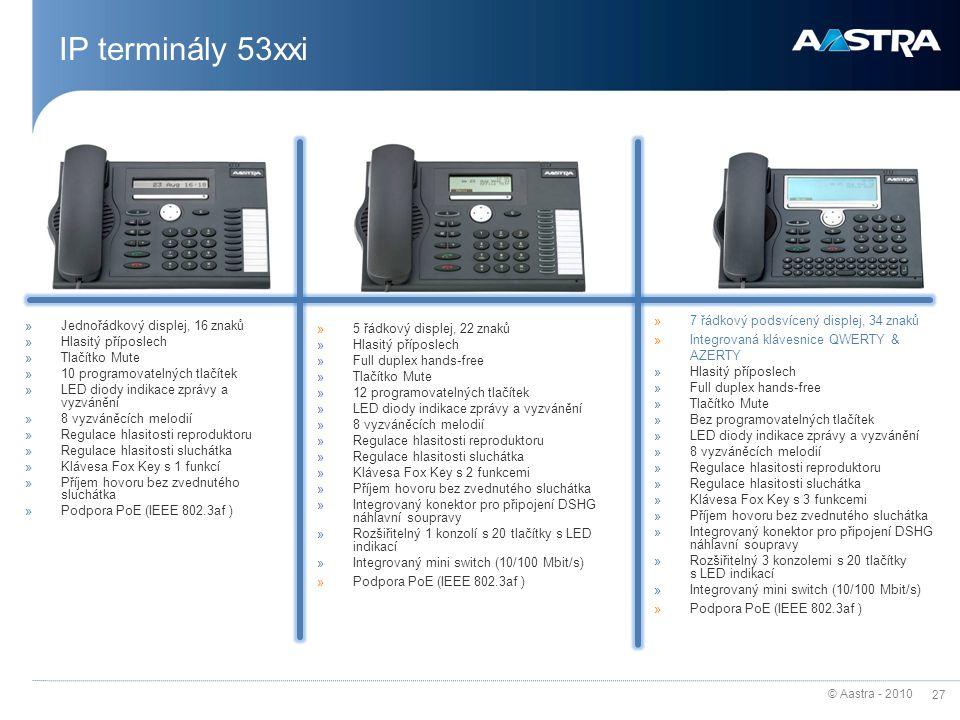 IP terminály 53xxi 7 řádkový podsvícený displej, 34 znaků