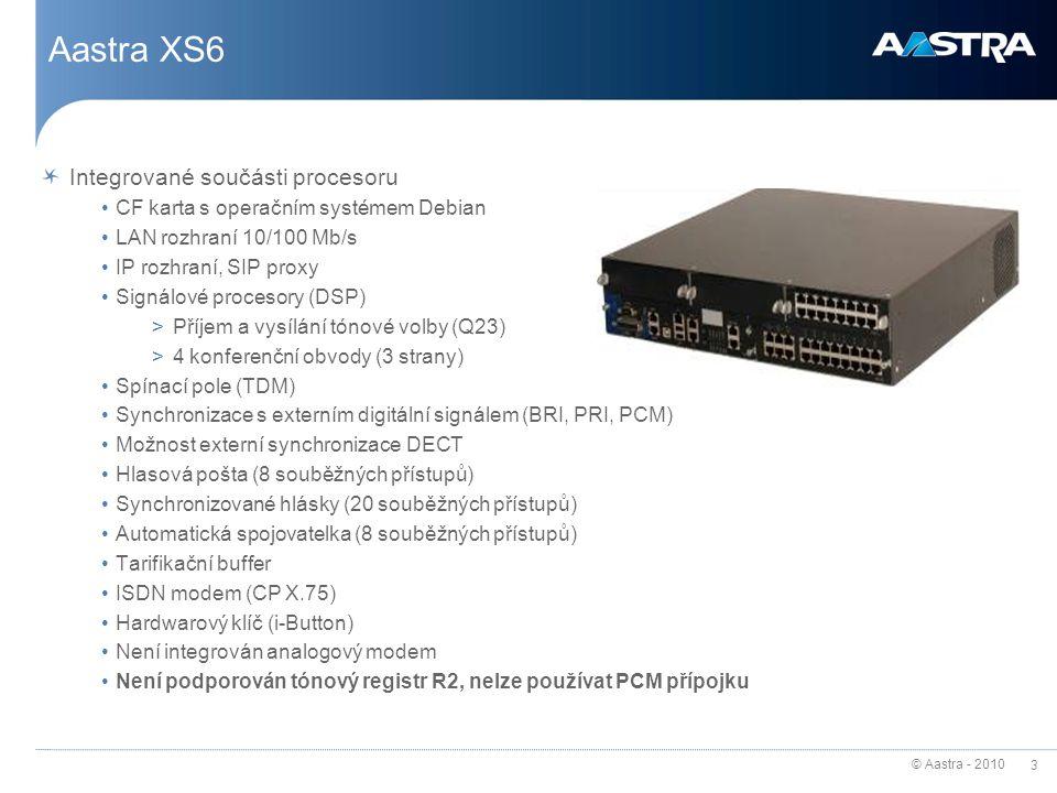 Aastra XS6 Integrované součásti procesoru