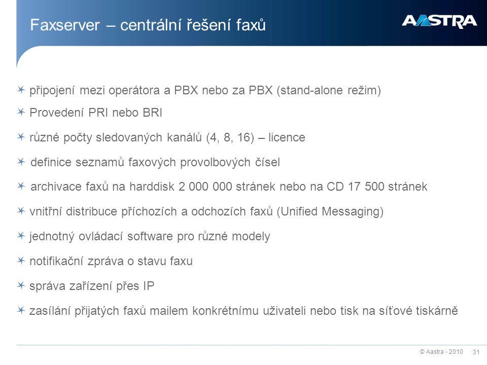 Faxserver – centrální řešení faxů