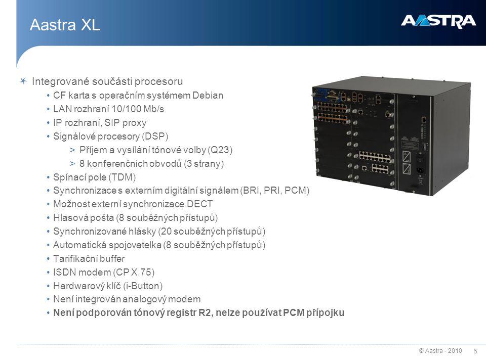 Aastra XL Integrované součásti procesoru