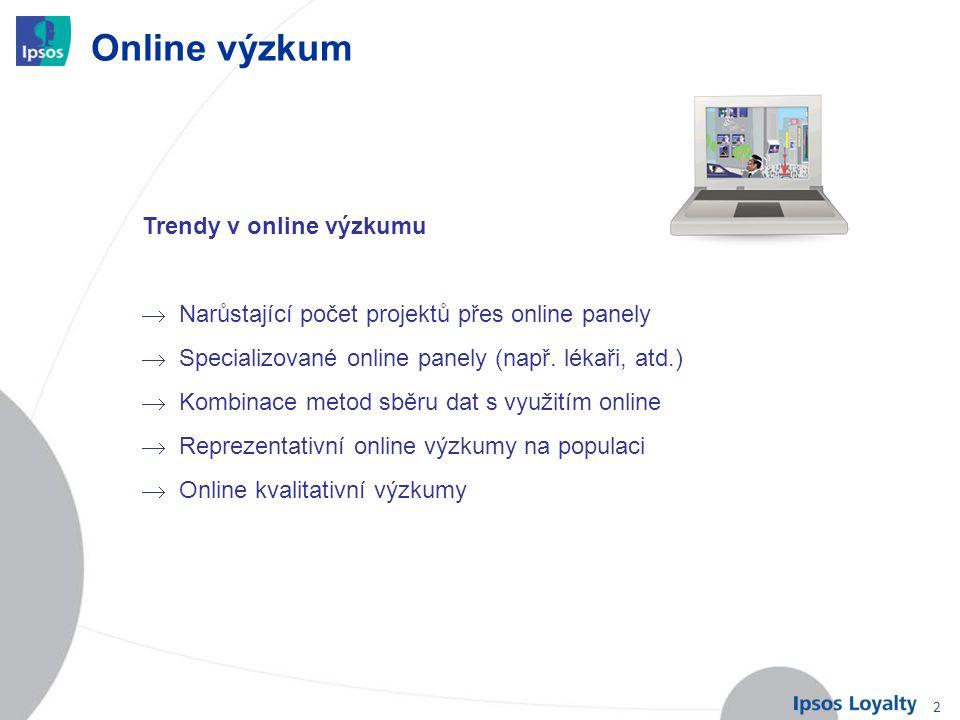 Online výzkum Trendy v online výzkumu