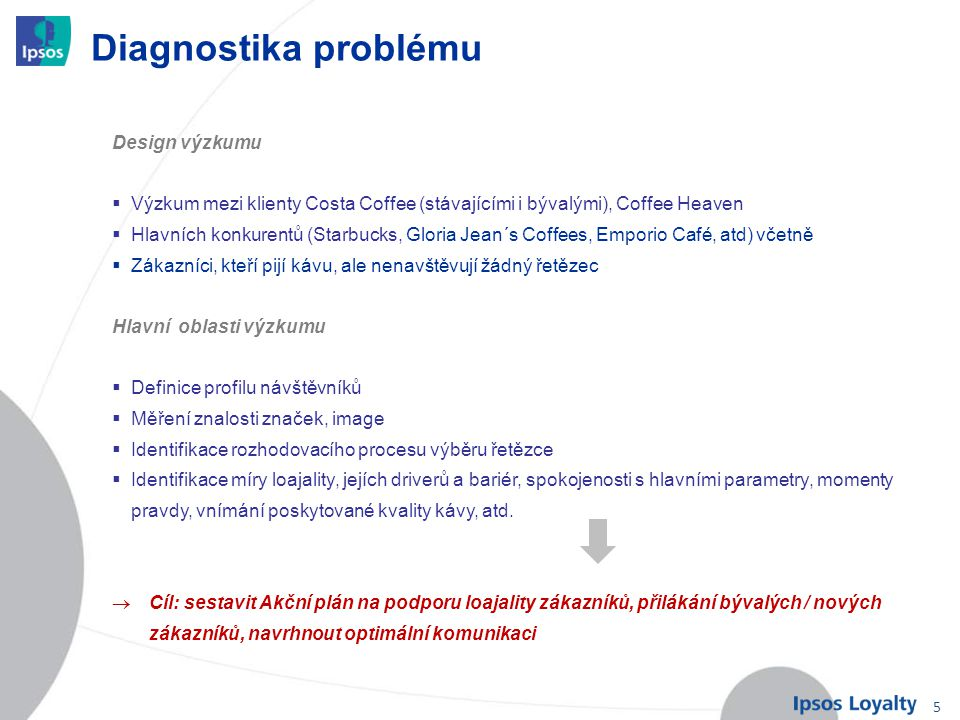 Diagnostika problému Design výzkumu