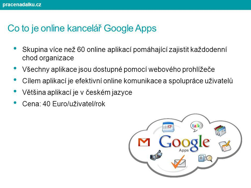 Co to je online kancelář Google Apps