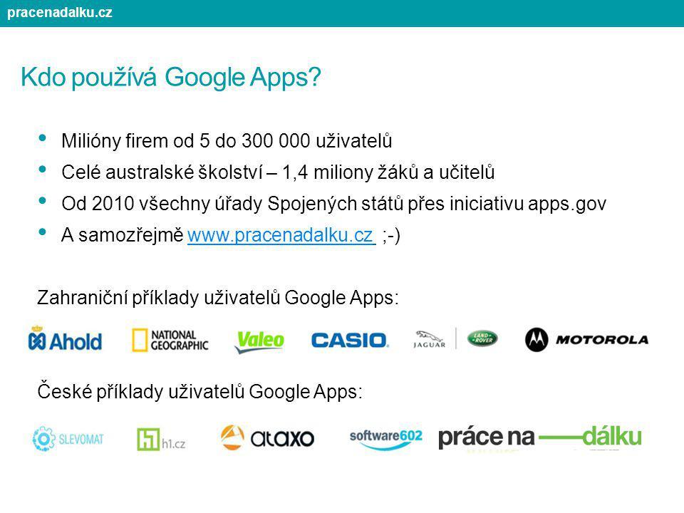 Kdo používá Google Apps