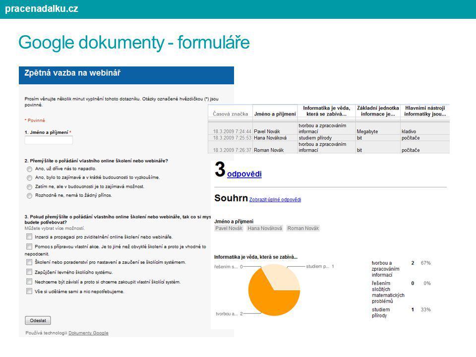 Google dokumenty - formuláře
