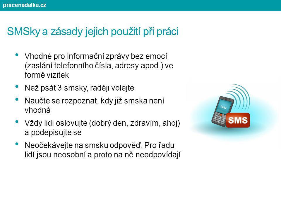 SMSky a zásady jejich použití při práci