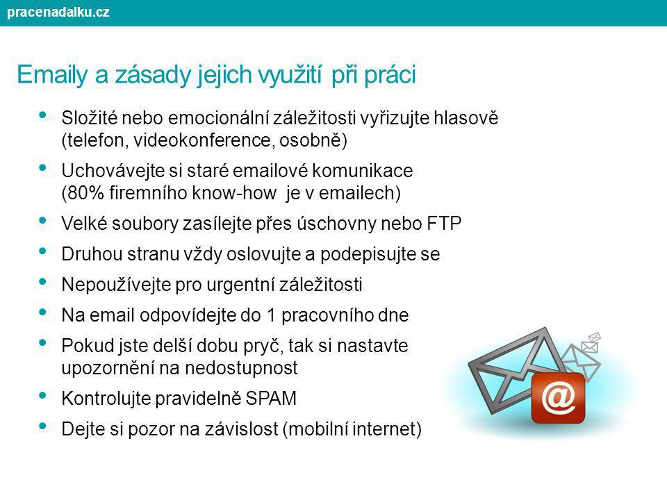 Emaily a zásady jejich využití při práci