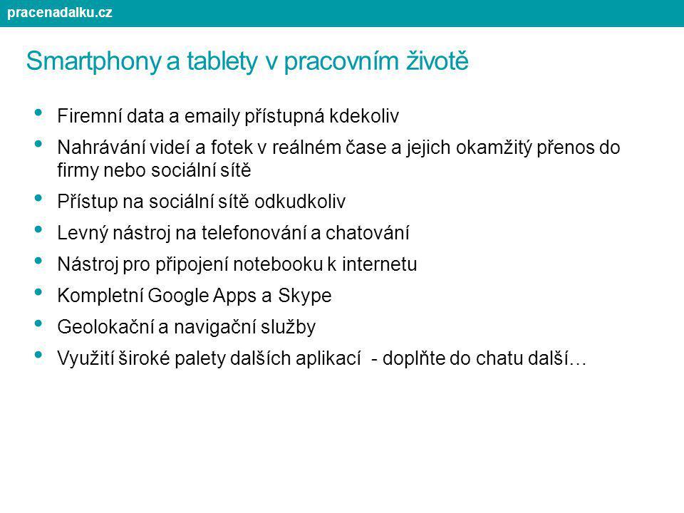 Smartphony a tablety v pracovním životě