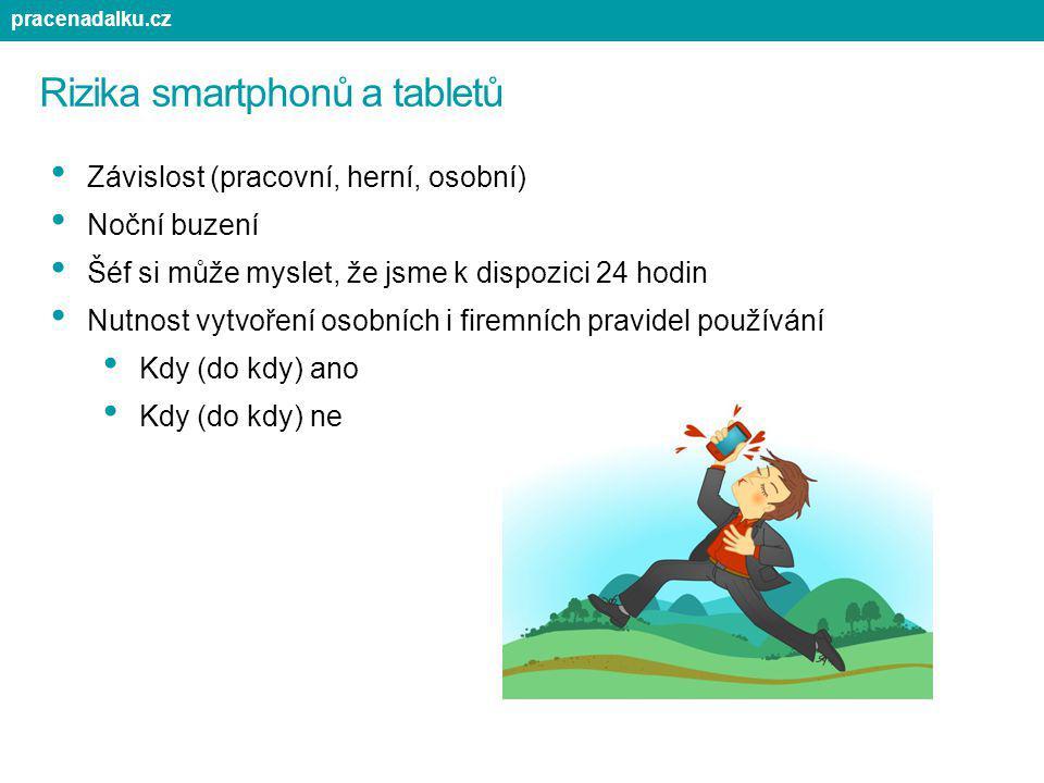 Rizika smartphonů a tabletů