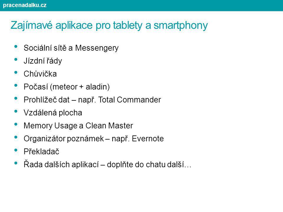 Zajímavé aplikace pro tablety a smartphony