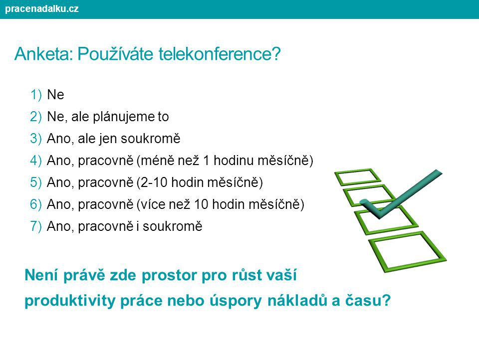 Anketa: Používáte telekonference