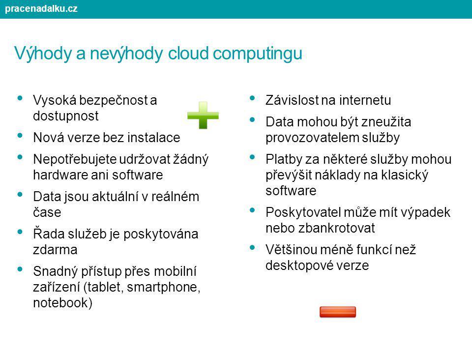 Výhody a nevýhody cloud computingu