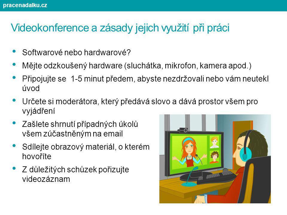 Videokonference a zásady jejich využití při práci