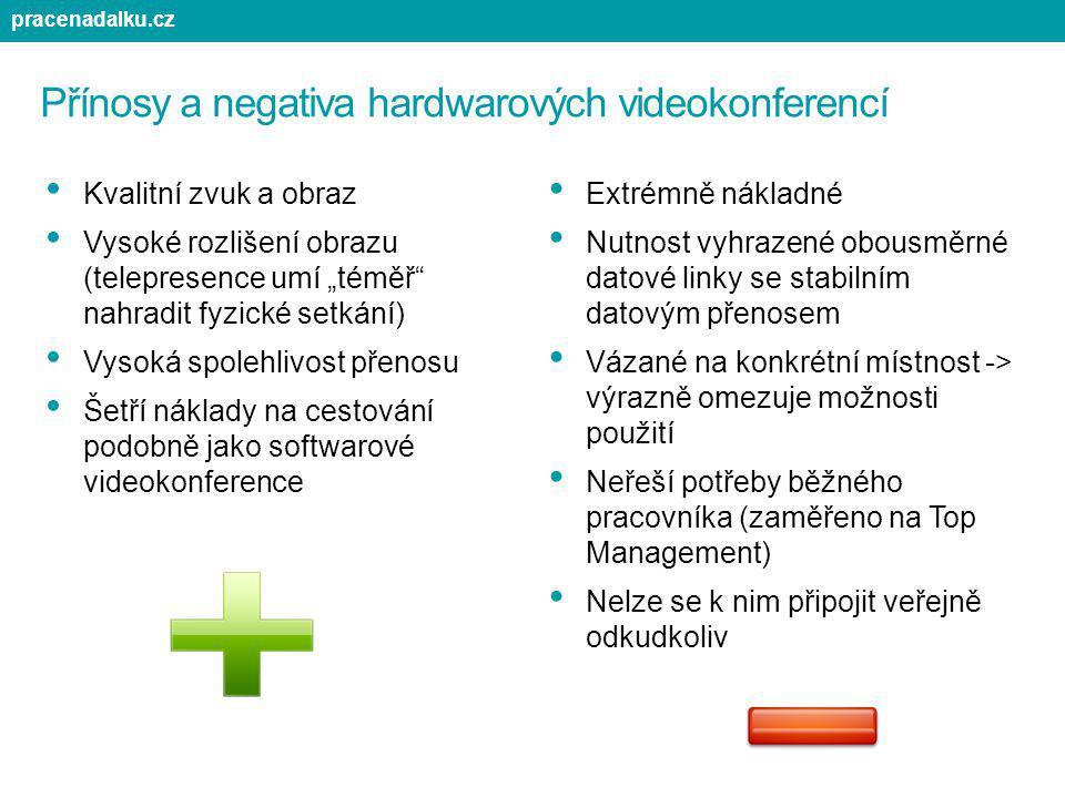 Přínosy a negativa hardwarových videokonferencí