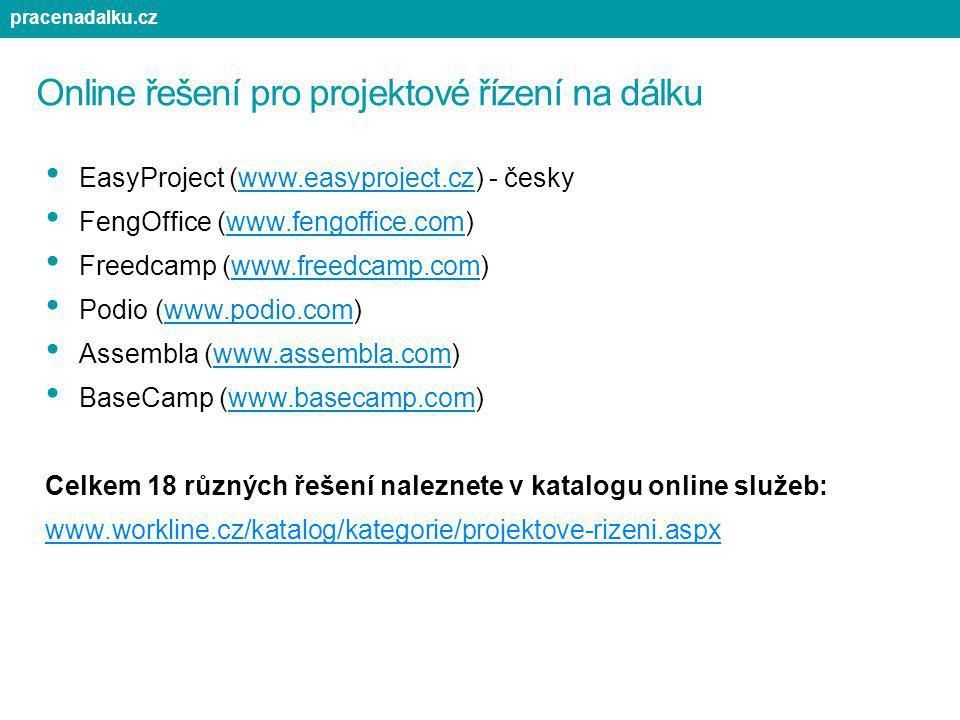 Online řešení pro projektové řízení na dálku