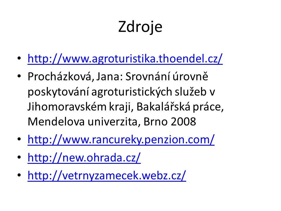 Zdroje http://www.agroturistika.thoendel.cz/