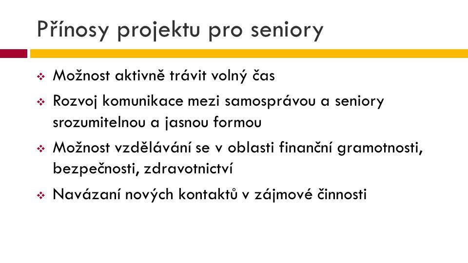 Přínosy projektu pro seniory
