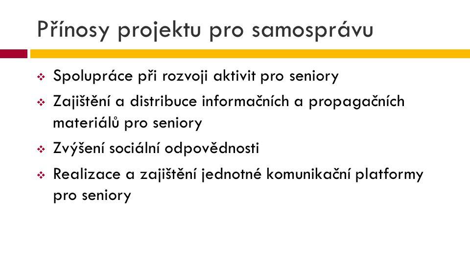 Přínosy projektu pro samosprávu
