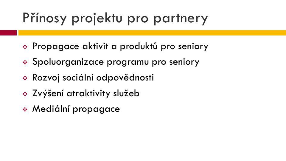 Přínosy projektu pro partnery