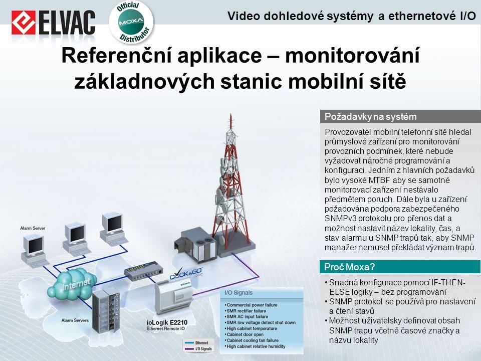 Referenční aplikace – monitorování základnových stanic mobilní sítě