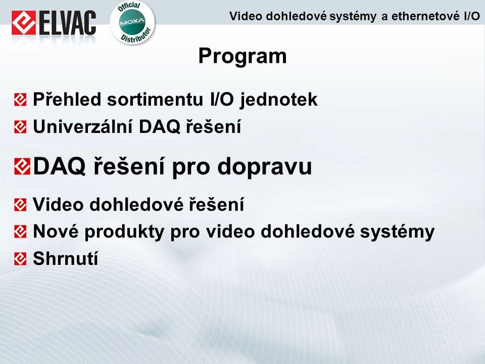 DAQ řešení pro dopravu Program Přehled sortimentu I/O jednotek