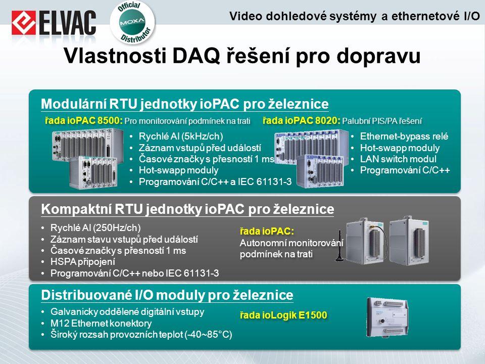 Vlastnosti DAQ řešení pro dopravu