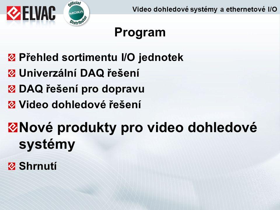 Nové produkty pro video dohledové systémy