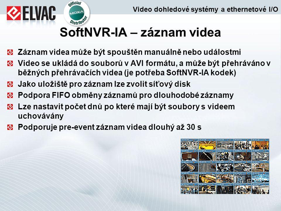 SoftNVR-IA – záznam videa
