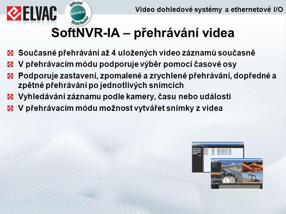 SoftNVR-IA – přehrávání videa