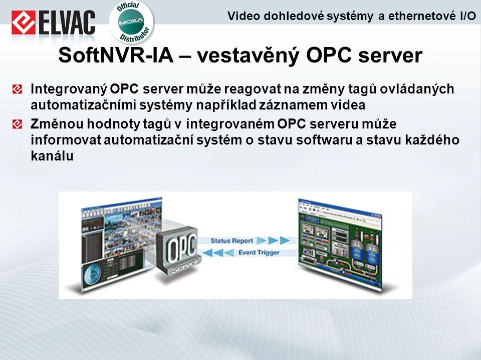 SoftNVR-IA – vestavěný OPC server