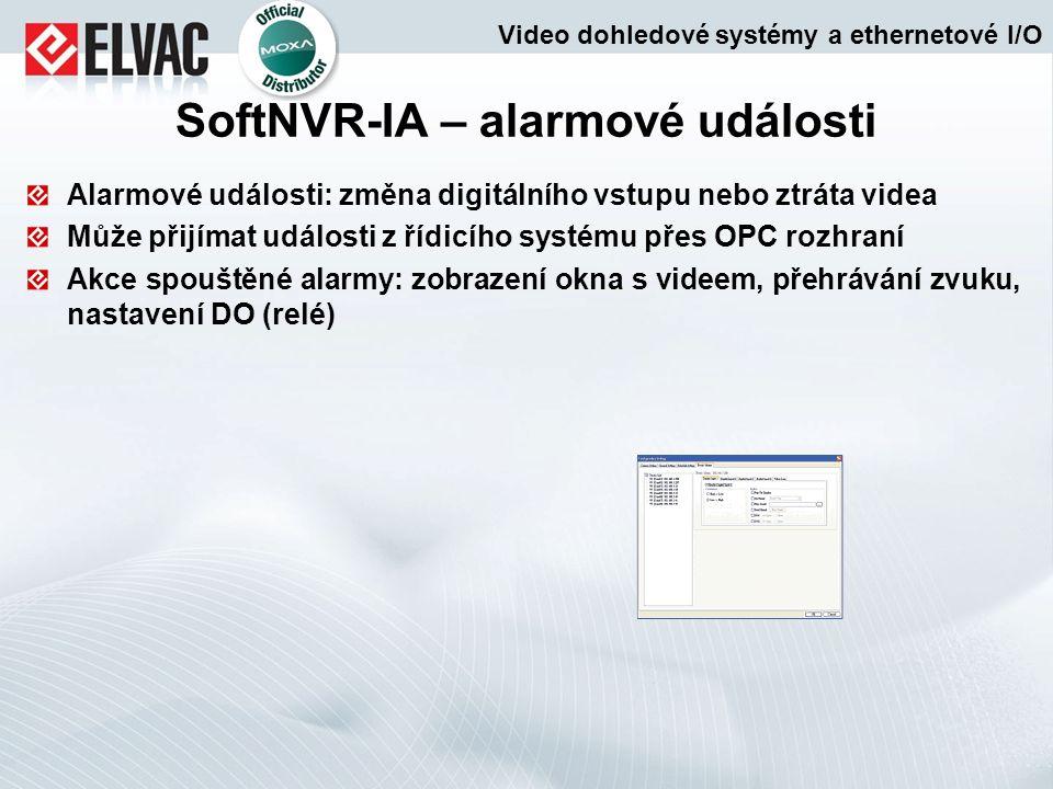 SoftNVR-IA – alarmové události