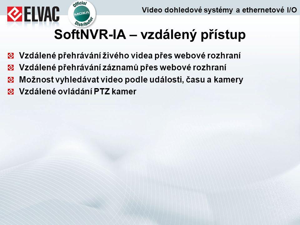 SoftNVR-IA – vzdálený přístup