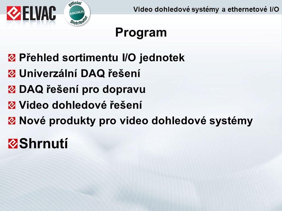 Shrnutí Program Přehled sortimentu I/O jednotek Univerzální DAQ řešení