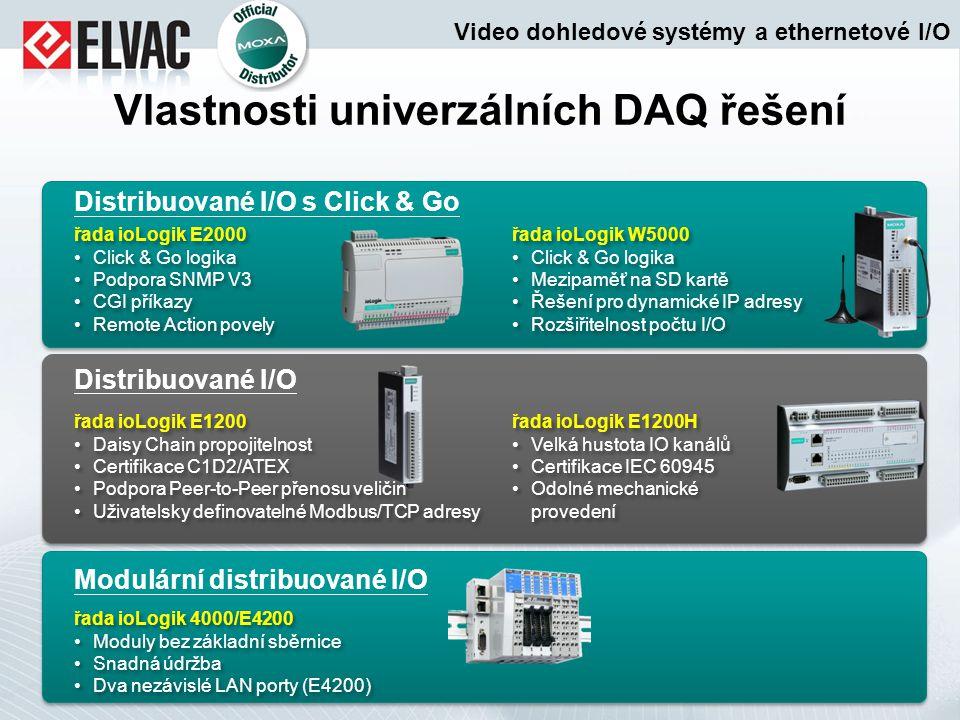 Vlastnosti univerzálních DAQ řešení