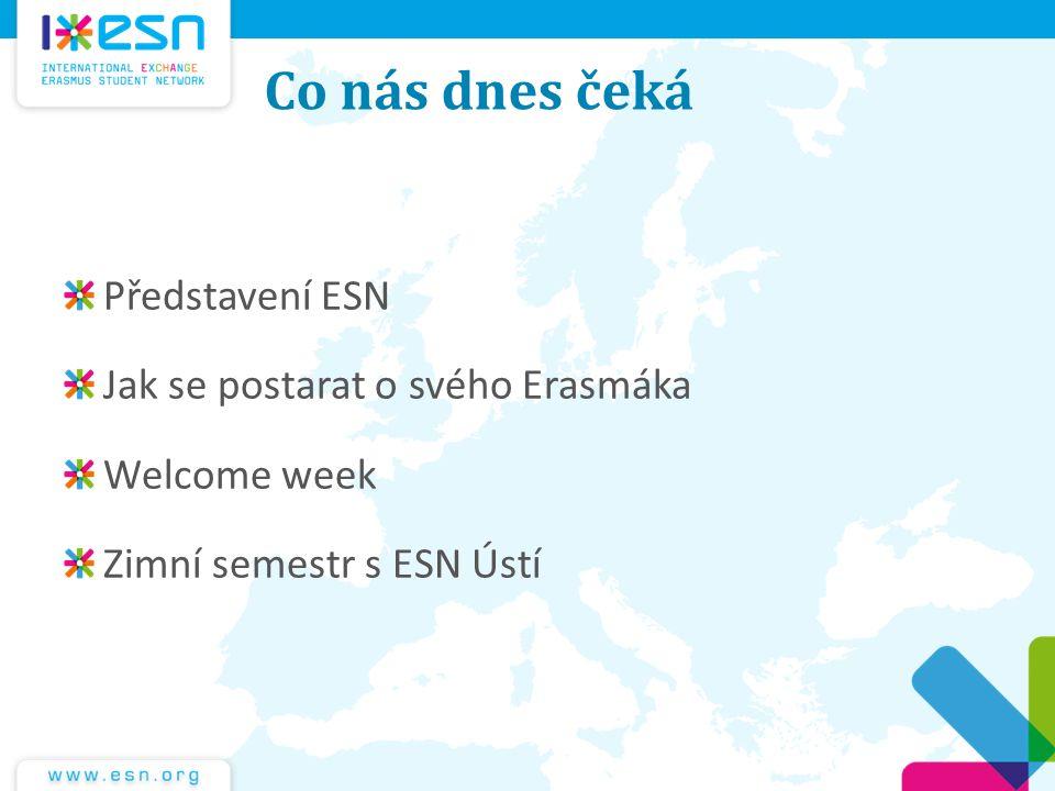 Co nás dnes čeká Představení ESN Jak se postarat o svého Erasmáka