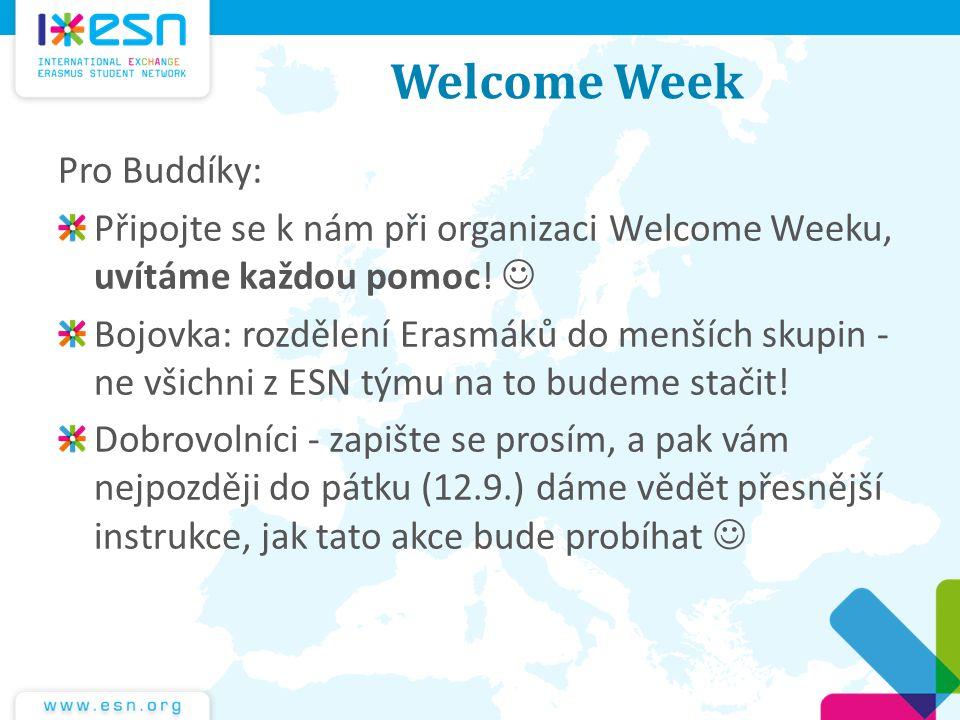 Welcome Week Pro Buddíky: