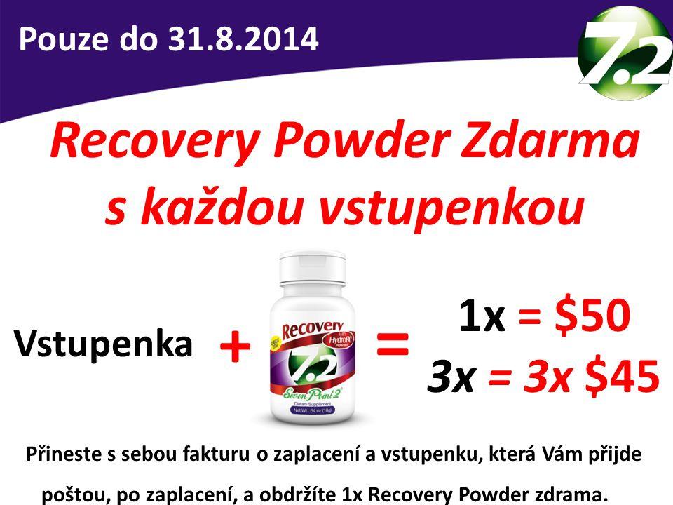 Recovery Powder Zdarma s každou vstupenkou