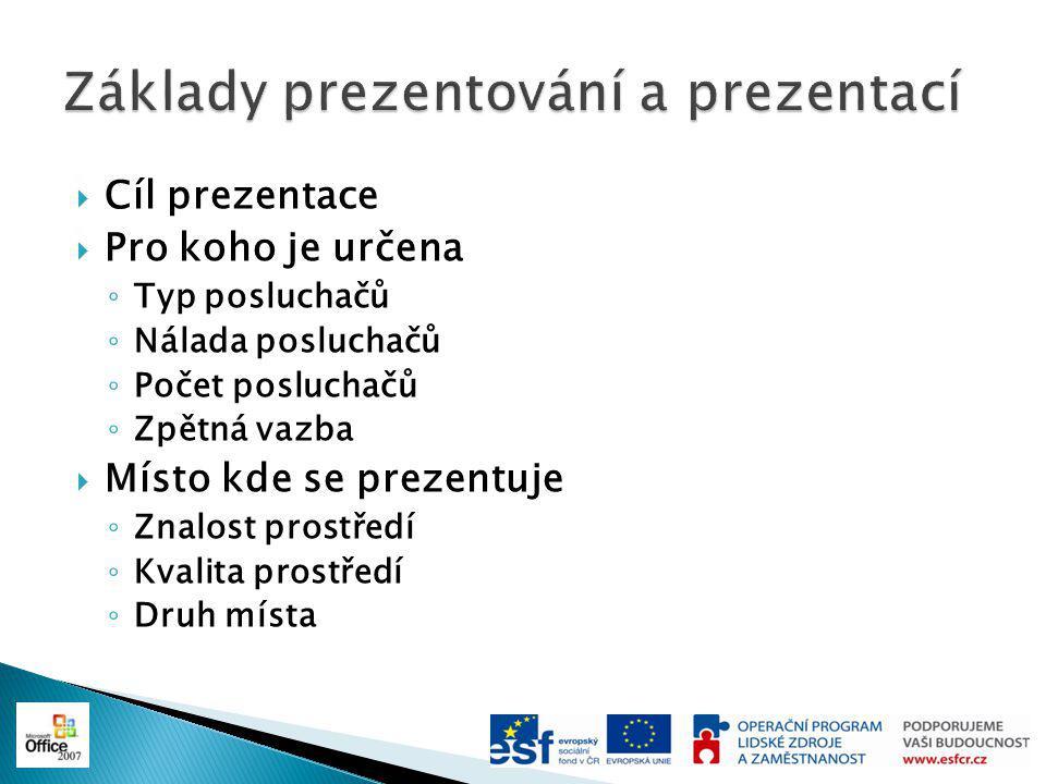 Základy prezentování a prezentací