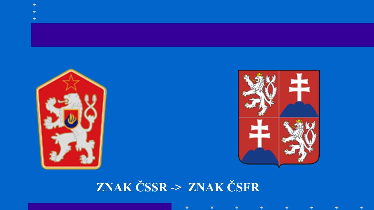 ZNAK ČSSR -> ZNAK ČSFR