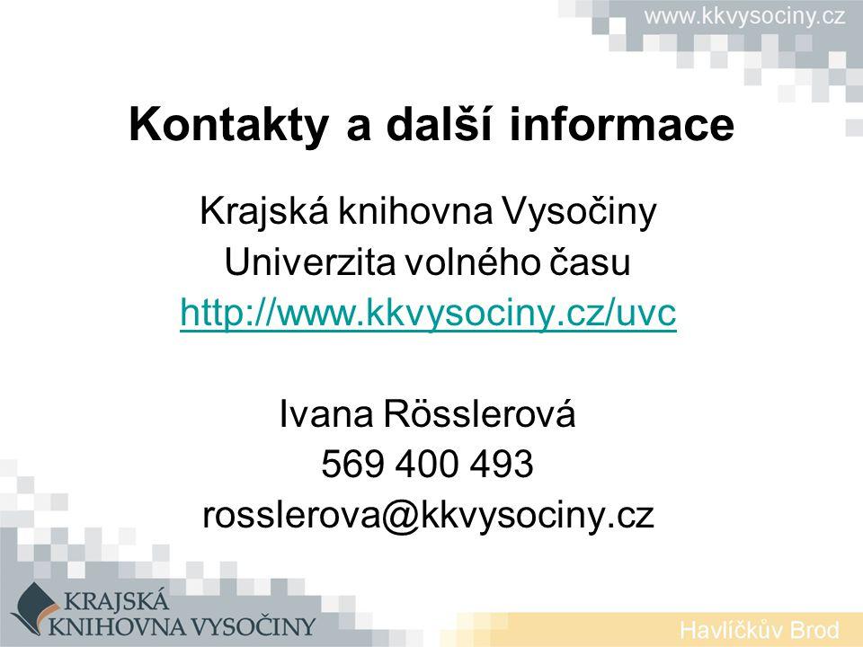Kontakty a další informace