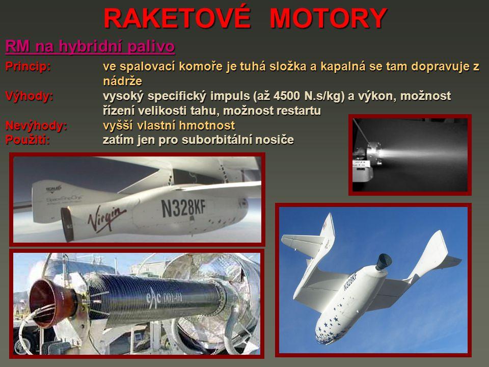 RAKETOVÉ MOTORY RM na hybridní palivo
