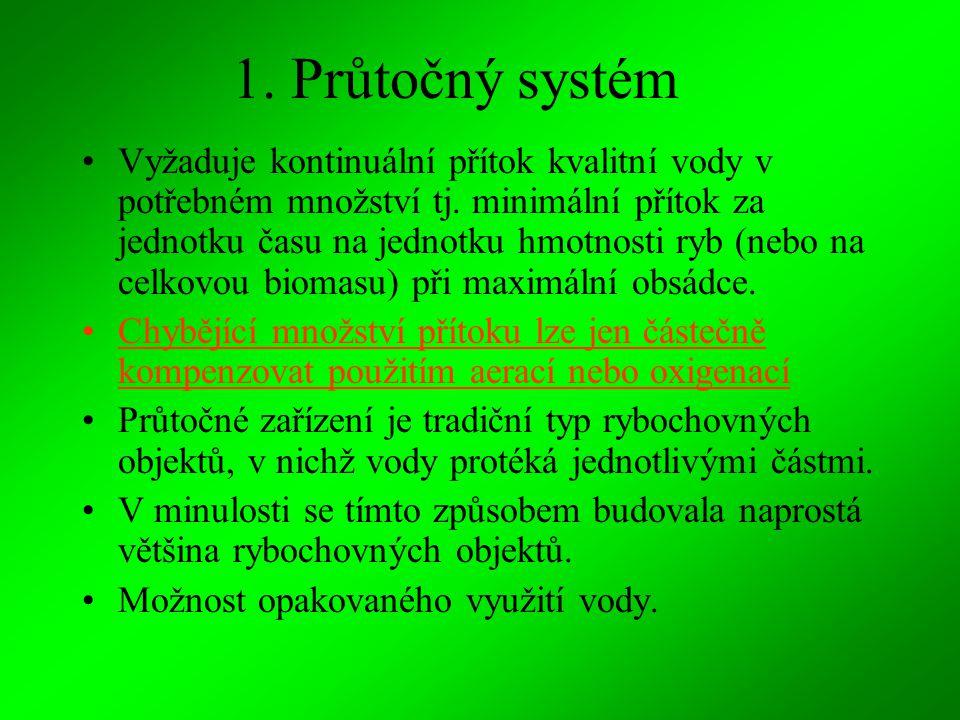 1. Průtočný systém
