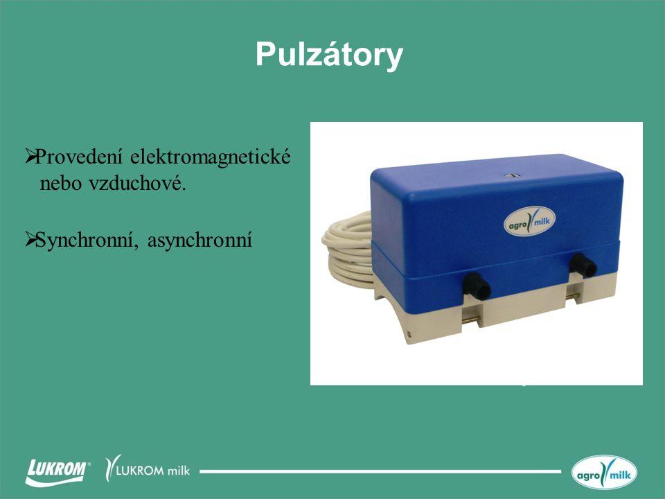 Pulzátory Provedení elektromagnetické nebo vzduchové.