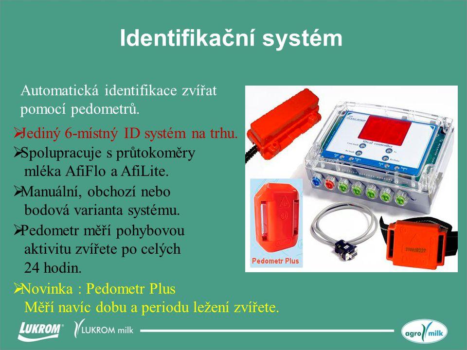 Identifikační systém Automatická identifikace zvířat pomocí pedometrů.