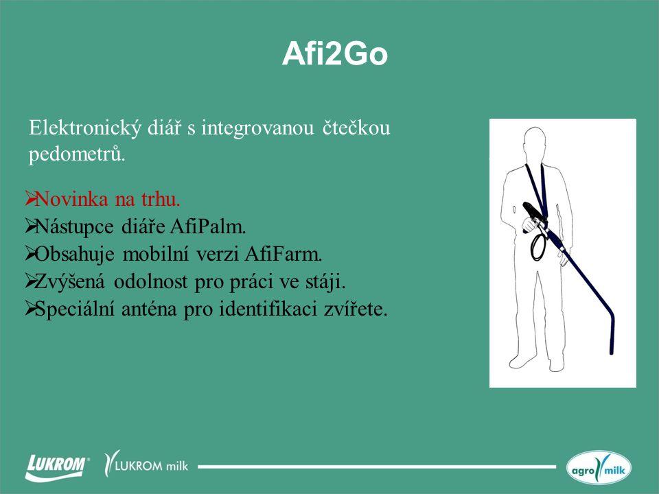 Afi2Go Elektronický diář s integrovanou čtečkou pedometrů.