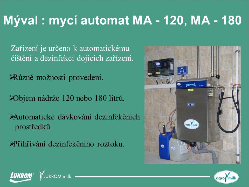 Mýval : mycí automat MA - 120, MA - 180