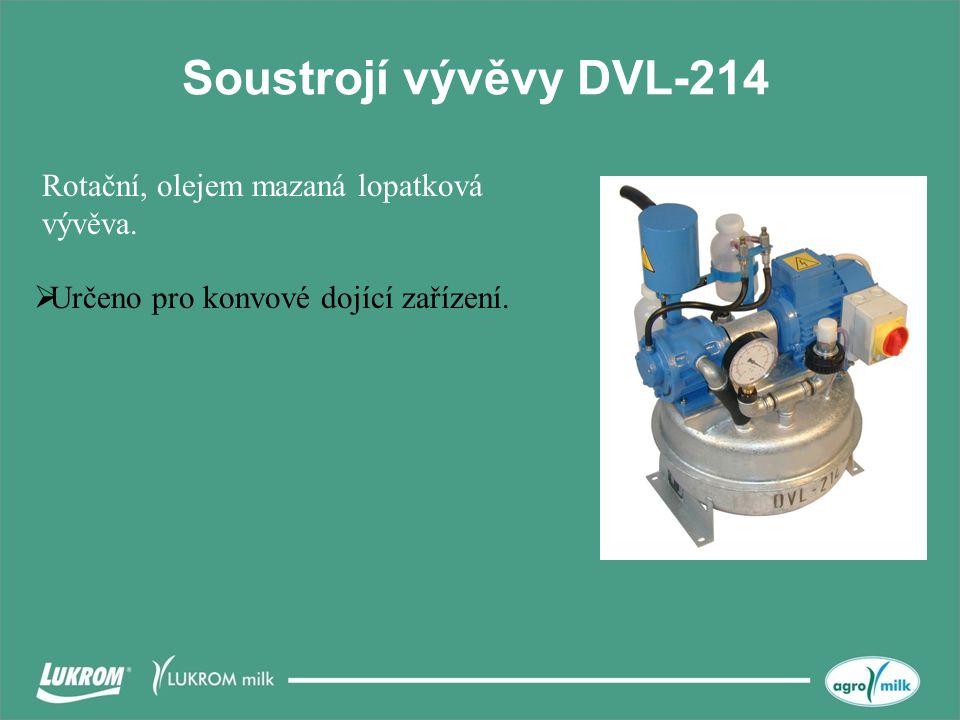Soustrojí vývěvy DVL-214 Rotační, olejem mazaná lopatková vývěva.