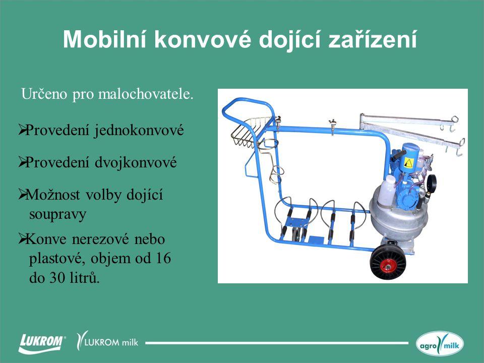 Mobilní konvové dojící zařízení