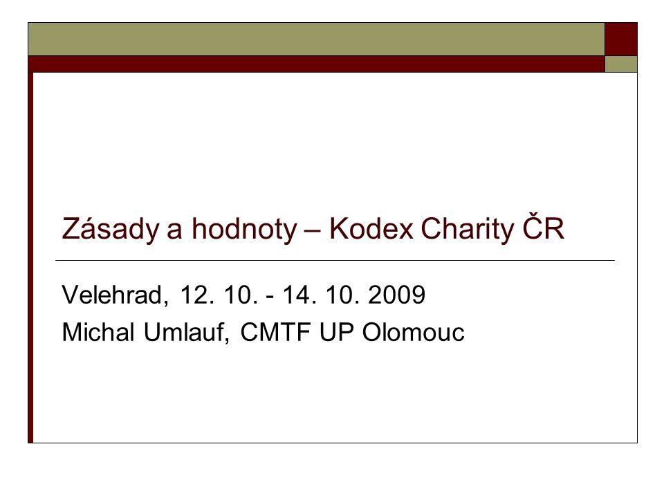 Zásady a hodnoty – Kodex Charity ČR