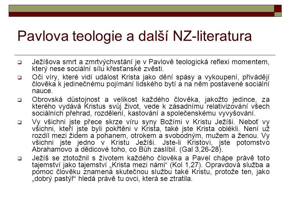 Pavlova teologie a další NZ-literatura